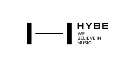 logo hybe we believe in music