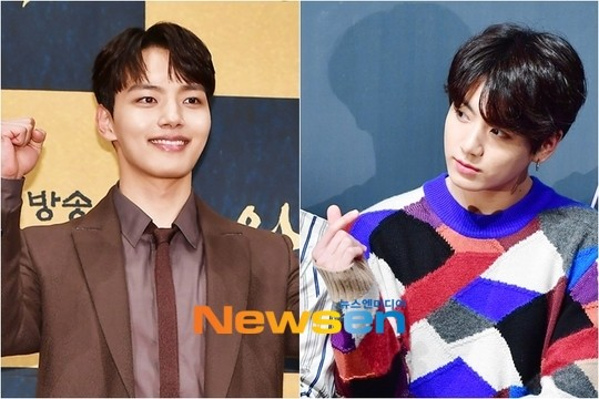 Jungkook sent coffee truck to support Yeo Jin Goo