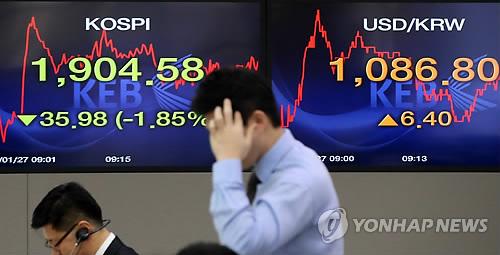신흥국 불안에 韓금융시장 '출렁'(종합2보)