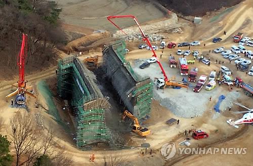 '용인 붕괴사고' LH·롯데 소장 등 7명 형사입건(종합)