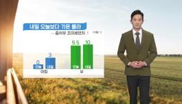 [날씨] 내일 오늘보다 기온 올라...중서부 초미세먼지↑